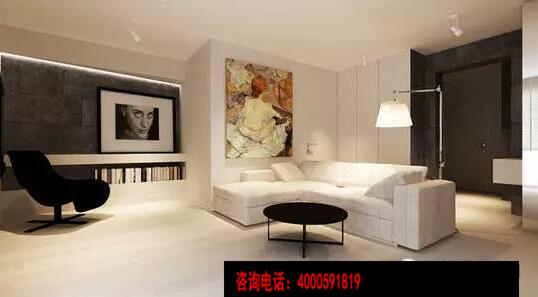 設計重點:墻壁收納設計 編輯點評:設計師條形挖空墻壁,放置書本,增加空間文藝氣息的同時,還凸顯空間的收納功能;整個空間的墻壁凹凸有序,空間立體感和設計感如loft裝修般的十足。 本文轉載曼城裝飾網www.mc58.cn